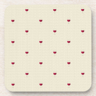Glasses of red wine pattern coaster