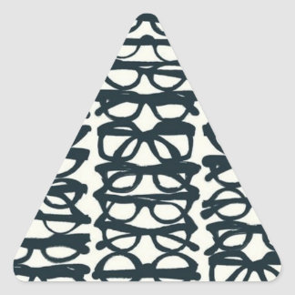 Glasses Print Triangle Sticker