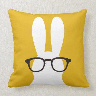 Glasses rabbit cushion