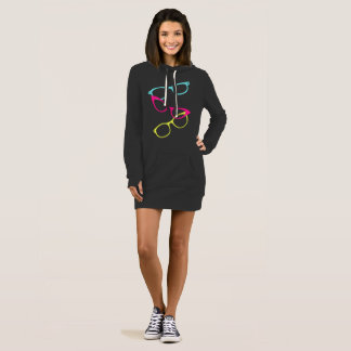Glasses Spectacles Print Hoodie Tunic