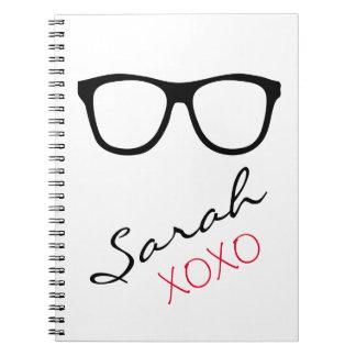 Glasses XOXO Name Notebook Journal