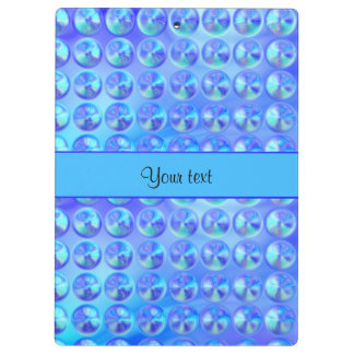 Glassy Blue Beads Clipboards