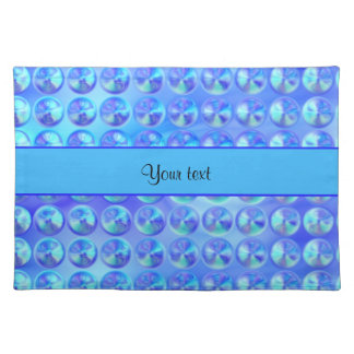 Glassy Blue Beads Place Mats