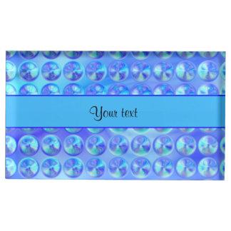 Glassy Blue Beads Table Card Holder