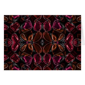 Glassy Flower Beads Card
