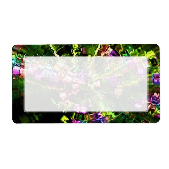 Glassy Green Ripples Abstract Shipping Label