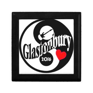 Glastonbury 2016 small square gift box