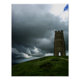 Glastonbury Tor England Tower Poster