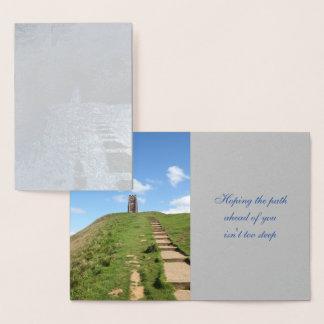 Glastonbury Tor Path Foil Card