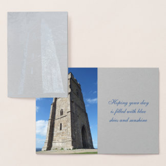 Glastonbury Tor Tower Foil Card
