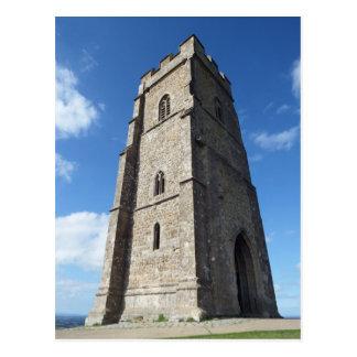 Glastonbury Tor Tower Postcard