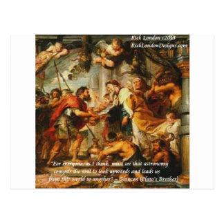 Glaucon (Plato's Brother) & Astronomy Quote Postcard