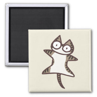 Glay Tabby Cat Magnet