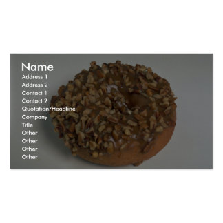 Glazed donut with nuts business cards