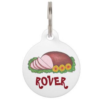 Glazed Holiday Ham Christmas Holiday Food Pet Tag