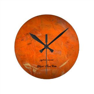 Glazed Terra Cotta Round Clock