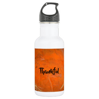 Glazed Terra Cotta Thankful 532 Ml Water Bottle