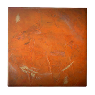 Glazed Terracotta Faux Finish Small Square Tile