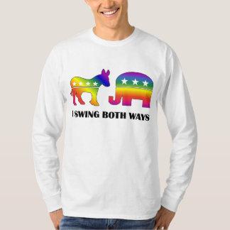 GLBT Democrat/Republican Swing Voter T-Shirt