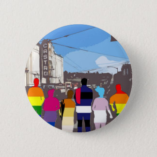 GLBT Pride People in the Castro #2 6 Cm Round Badge
