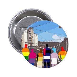 GLBT Pride People in the Castro #2 6 Cm Round Badge