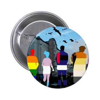 GLBT Pride People in the Castro 6 Cm Round Badge