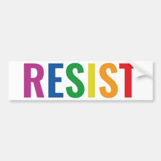 Glbt Resist Bumper Sticker