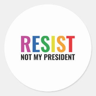 Glbt Resist Classic Round Sticker