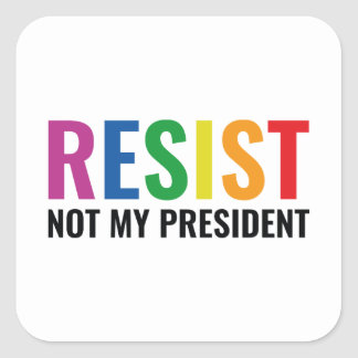 Glbt Resist Square Sticker