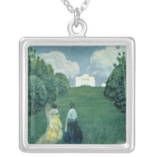 Gleam of the Sunset, 1904 Silver Plated Necklace