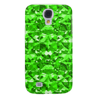 Gleaming Green Diamonds Galaxy S4 Cases