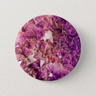 Gleaming Purple Geode Crystals 6 Cm Round Badge