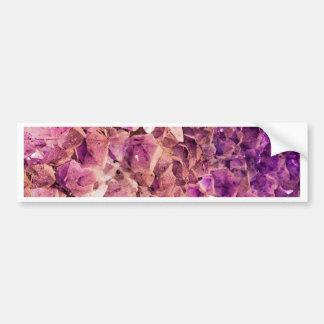 Gleaming Purple Geode Crystals Bumper Sticker