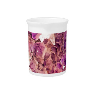 Gleaming Purple Geode Crystals Pitcher