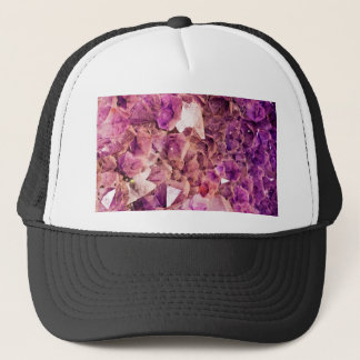 Gleaming Purple Geode Crystals Trucker Hat
