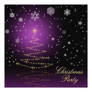 Gleamy and Snowy Christmas - Invitation