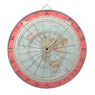 Gleason's NEW STANDARD MAP OF THE WORLD Dart Board