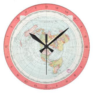 Gleason's NEW STANDARD MAP OF THE WORLD Wall Clock