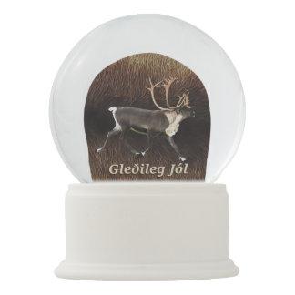 Gleðileg Jól - Bull Caribou (Reindeer) Snow Globe