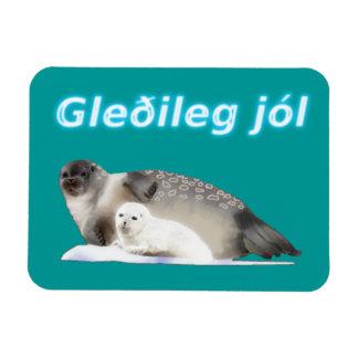 Gleðileg jól - Ringed Seal Rectangular Photo Magnet