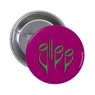 glee club 6 cm round badge