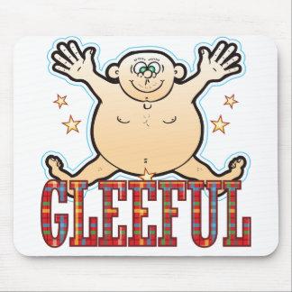 Gleeful Fat Man Mouse Pad