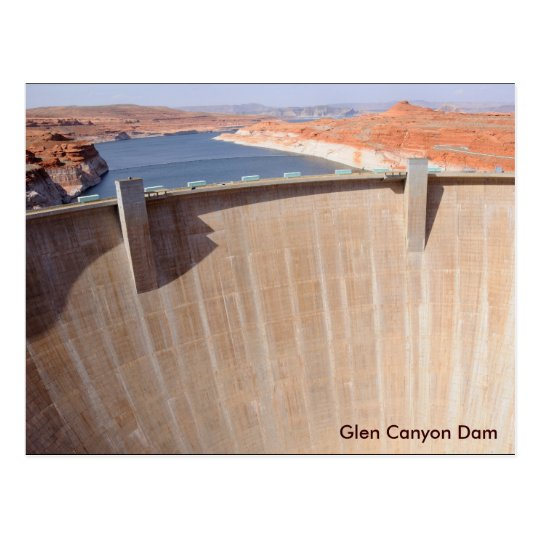 Glen Canyon Dam and Lake Powell Postcard