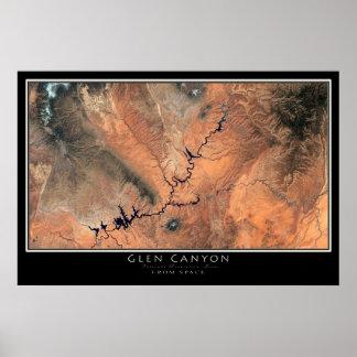 Glen Canyon - Lake Powell National Park Satellite Poster