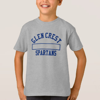 Glen Crest Gym Uniform - Blue Logo T-Shirt
