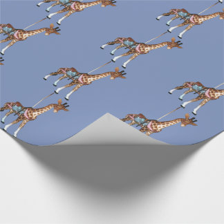 Glen Echo Giraffe - blue Wrapping Paper