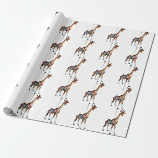 Glen Echo Giraffe Wrapping Paper