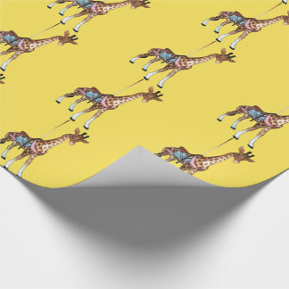Glen Echo Giraffe - yellow Wrapping Paper