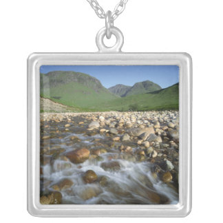 Glen Etive, Highlands, Scotland 2 Square Pendant Necklace