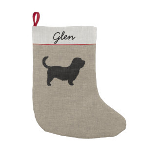 Glen of Imaal Silhouette (Long Tail) with Text Small Christmas Stocking